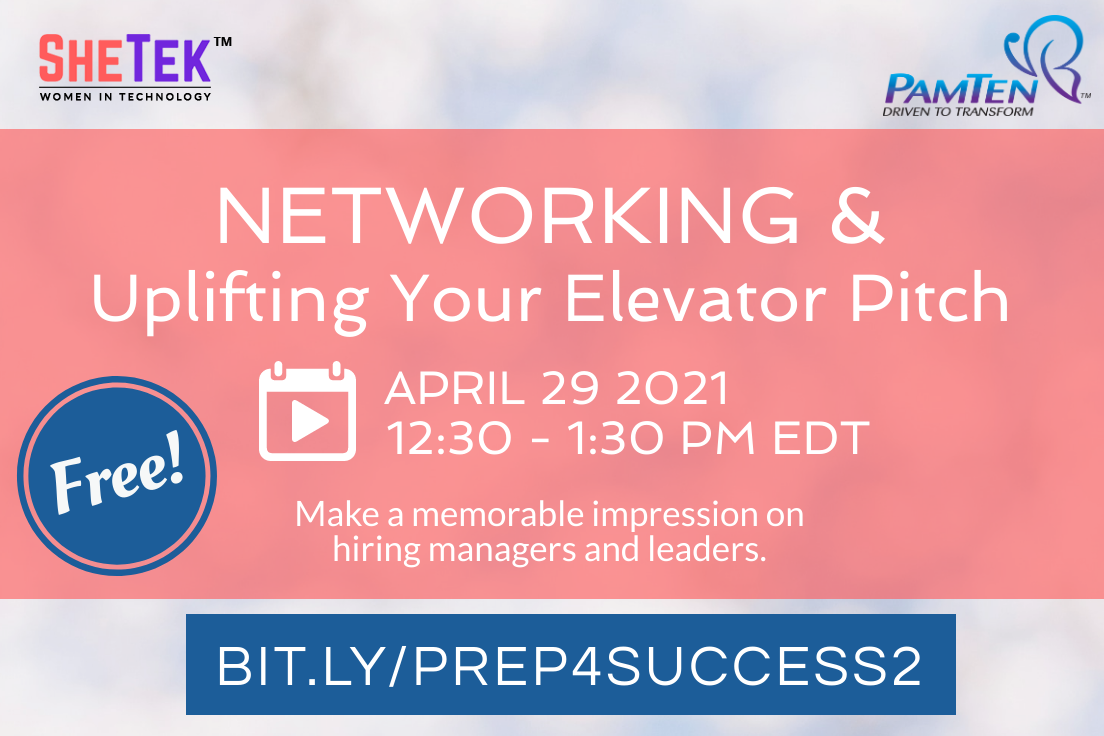 Networking & Uplifting Your Elevator Pitch