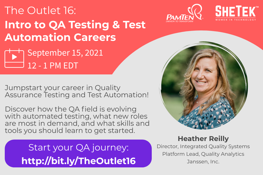 The Outlet 16: Intro to QA Testing & Test Automation Careers